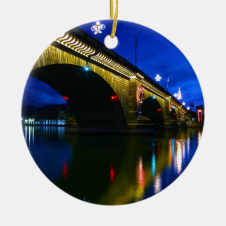 London Bridge at Dusk Ceramic Ornament