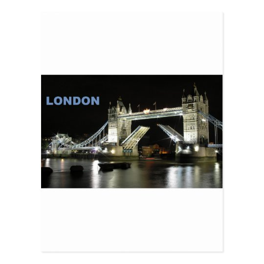 London bridge at night (St.K) Postcard