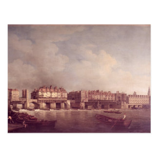 London Bridge before the Alteration in 1757 Postcard