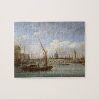 London Bridge, with St. Paul's Cathedral in the Di Jigsaw Puzzle
