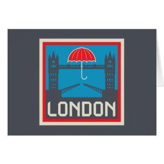 London Bridge with Umbrella Card