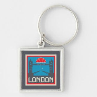 London Bridge with Umbrella Keychain