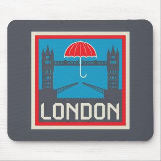 London Bridge with Umbrella Mouse Pad