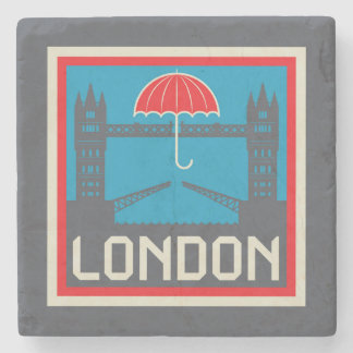 London Bridge with Umbrella Stone Coaster