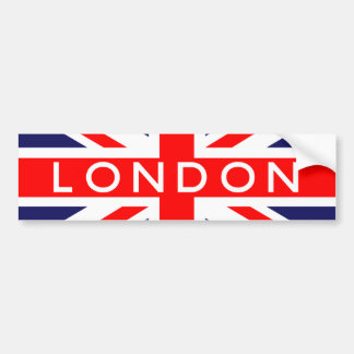 London : British Flag Bumper Sticker