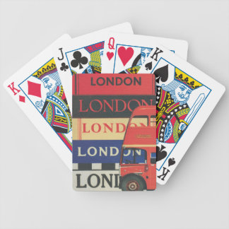 London bus bicycle playing cards