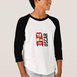 London Bus Customisable Kids Raglan Top