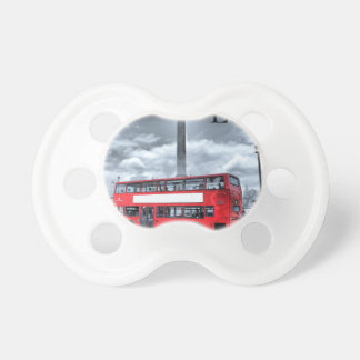 LONDON BUS in Black & White (St.K) Baby Pacifiers