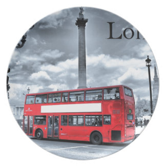 LONDON BUS in Black & White (St.K) Plate
