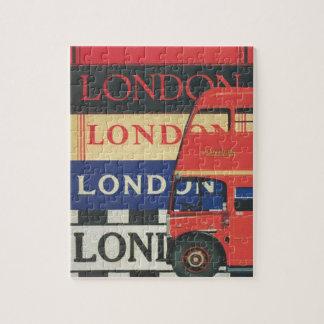 London bus jigsaw puzzle