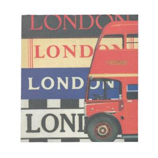 London bus notepad
