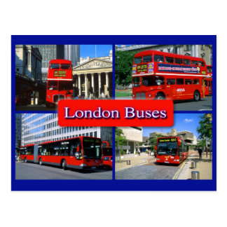 london bus postcard 18