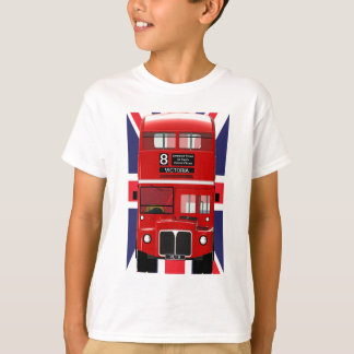 London Bus with Union Jack Tee Shirt