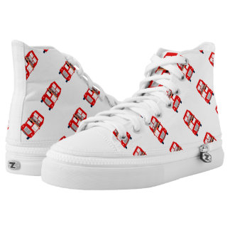 London Bus Zipz High Top Shoes