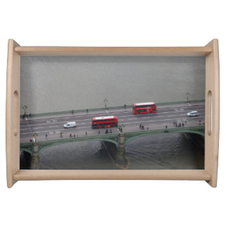 London Busses on Bridge Serving Tray