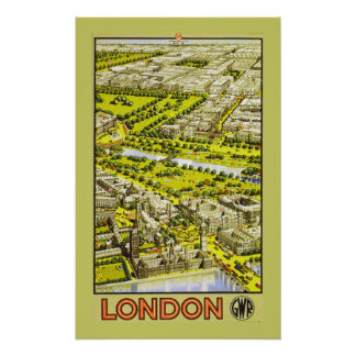 London by GWR (border) Poster