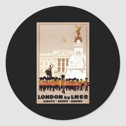 London by LNER Classic Round Sticker