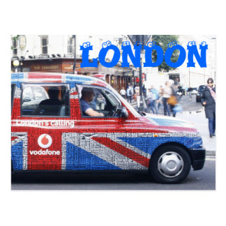 London Cab Postcard