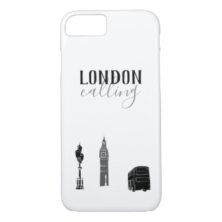 London Calling Big Ben Stylish Black White Pure iPhone 8/7 Case