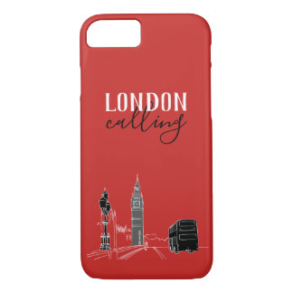 London Calling Big Ben Stylish Red Modern Cool Case-Mate iPhone Case