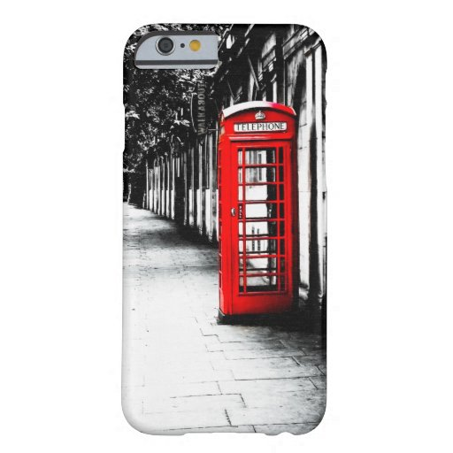 London Calling - Red British Phone Box Barely There iPhone 6 Case