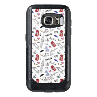 London City Doodles Pattern OtterBox Samsung Galaxy S7 Case