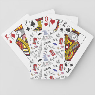London City Doodles Pattern Playing Cards