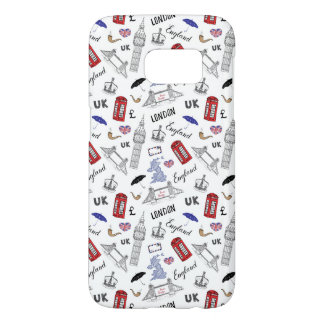 London City Doodles Pattern Samsung Galaxy S7 Case
