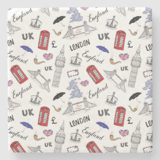 London City Doodles Pattern Stone Coaster