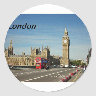 london-city-[kan.k].JPG Classic Round Sticker