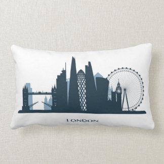 London City Skyline Lumbar Pillow