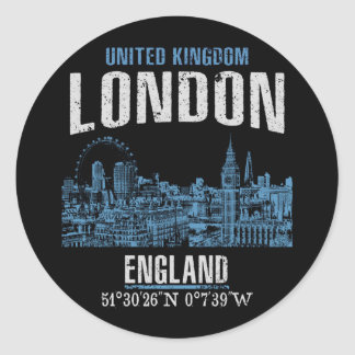 London Classic Round Sticker