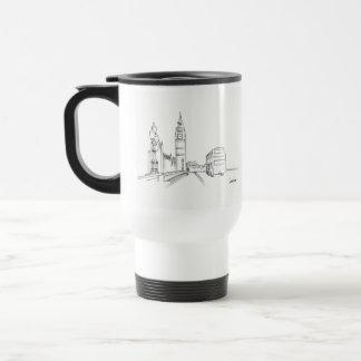 London Classy Elegant Sketch Simple Drawing Chic Travel Mug