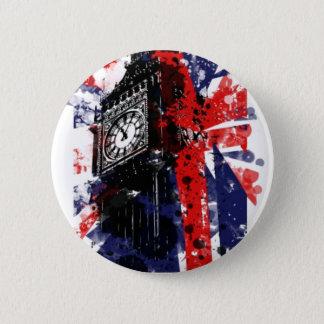 London Clock 2 Inch Round Button