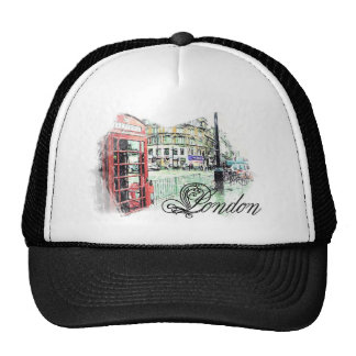London Colored  Sketch Trucker Hat
