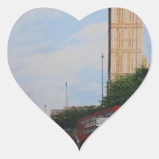 London Corner Heart Sticker
