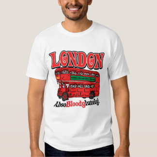 London Double-Decker Bus by Mudge Studios Tees