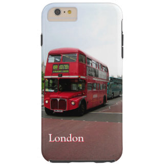London Double-decker Bus Customized Tough iPhone 6 Plus Case
