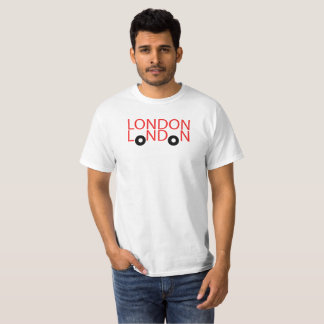 London Double Decker Bus Graphic Tee Shirt