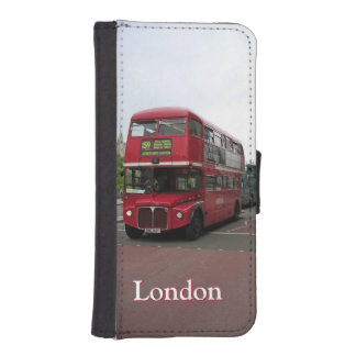 London Double-decker Bus iPhone SE/5/5s Wallet Case