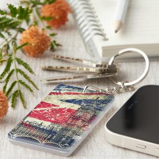 London Double-Sided Rectangular Acrylic Keychain