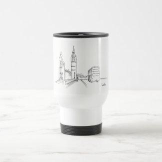 London Elegant Classy Sketch Nostalgic Beautiful Travel Mug