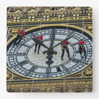 London Elizabeth Tower cleaners square wall clock