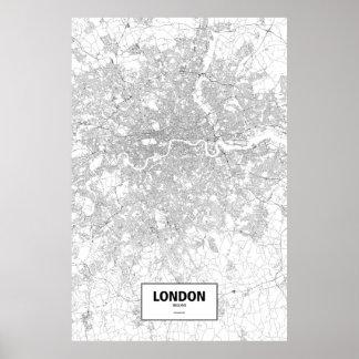 London, England (black on white) Poster