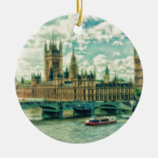 London England by Shawna Mac Ceramic Ornament