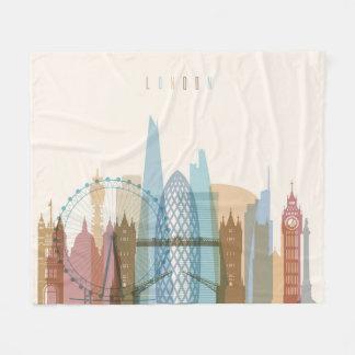 London, England | City Skyline Fleece Blanket