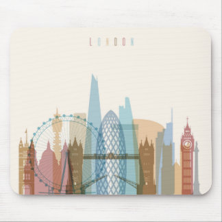 London, England | City Skyline Mouse Pad