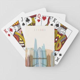 London, England | City Skyline Playing Cards