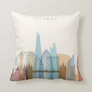 London, England | City Skyline Throw Pillow