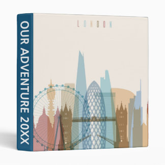 London, England | City Skyline Vinyl Binders